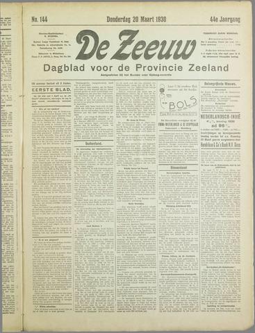 De Zeeuw. Christelijk-historisch nieuwsblad voor Zeeland 1930-03-20