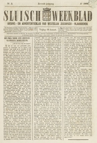 Sluisch Weekblad. Nieuws- en advertentieblad voor Westelijk Zeeuwsch-Vlaanderen 1866-01-19