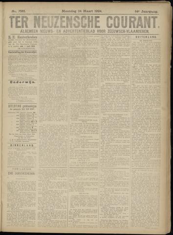 Ter Neuzensche Courant. Algemeen Nieuws- en Advertentieblad voor Zeeuwsch-Vlaanderen / Neuzensche Courant ... (idem) / (Algemeen) nieuws en advertentieblad voor Zeeuwsch-Vlaanderen 1924-03-24