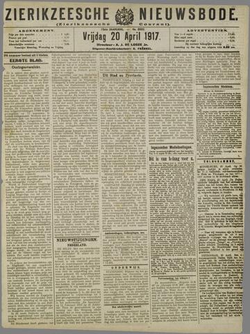 Zierikzeesche Nieuwsbode 1917-04-20