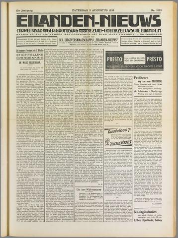 Eilanden-nieuws. Christelijk streekblad op gereformeerde grondslag 1939-08-05