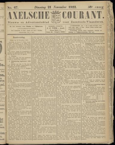 Axelsche Courant 1922-11-21