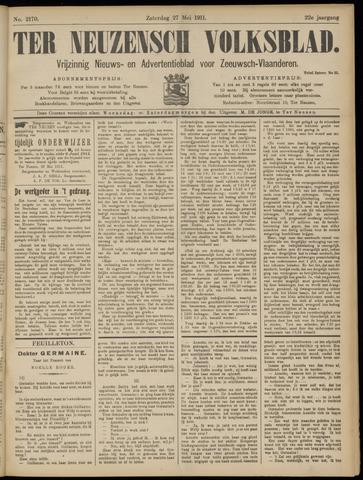Ter Neuzensch Volksblad. Vrijzinnig nieuws- en advertentieblad voor Zeeuwsch- Vlaanderen / Zeeuwsch Nieuwsblad. Nieuws- en advertentieblad voor Zeeland 1911-05-27