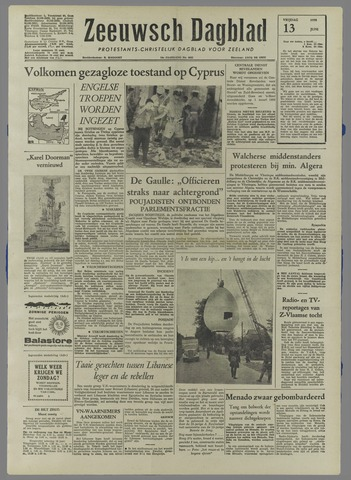 Zeeuwsch Dagblad 1958-06-13