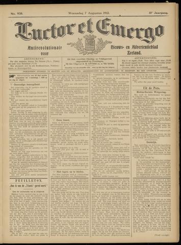 Luctor et Emergo. Antirevolutionair nieuws- en advertentieblad voor Zeeland / Zeeuwsch-Vlaanderen. Orgaan ter verspreiding van de christelijke beginselen in Zeeuwsch-Vlaanderen 1912-08-07