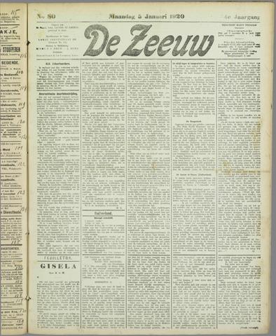 De Zeeuw. Christelijk-historisch nieuwsblad voor Zeeland 1920-01-05