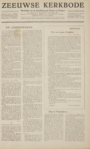 Zeeuwsche kerkbode, weekblad gewijd aan de belangen der gereformeerde kerken/ Zeeuwsch kerkblad 1959-02-20