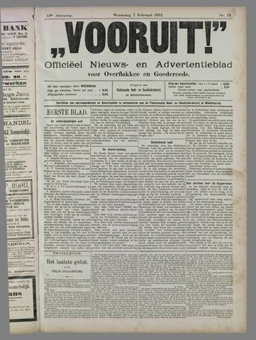 """""""Vooruit!""""Officieel Nieuws- en Advertentieblad voor Overflakkee en Goedereede 1912-02-07"""