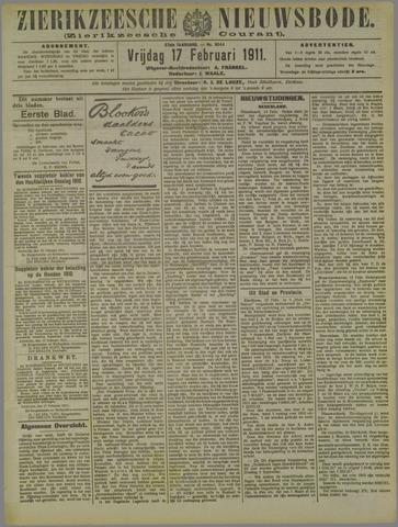 Zierikzeesche Nieuwsbode 1911-02-17