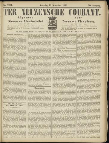 Ter Neuzensche Courant. Algemeen Nieuws- en Advertentieblad voor Zeeuwsch-Vlaanderen / Neuzensche Courant ... (idem) / (Algemeen) nieuws en advertentieblad voor Zeeuwsch-Vlaanderen 1890-11-15