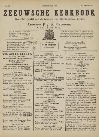 Zeeuwsche kerkbode, weekblad gewijd aan de belangen der gereformeerde kerken/ Zeeuwsch kerkblad 1888-11-03