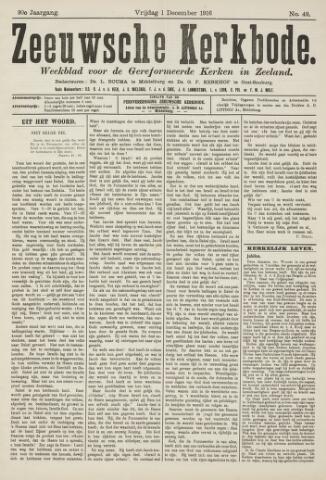 Zeeuwsche kerkbode, weekblad gewijd aan de belangen der gereformeerde kerken/ Zeeuwsch kerkblad 1916-12-01
