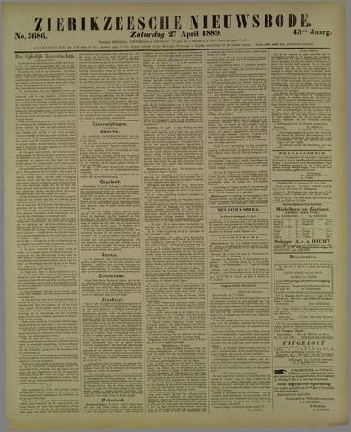 Zierikzeesche Nieuwsbode 1889-04-27