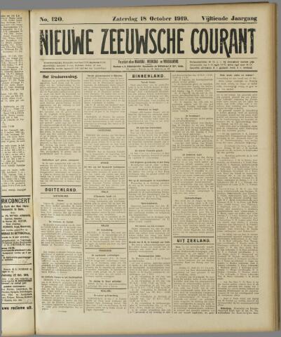 Nieuwe Zeeuwsche Courant 1919-10-18