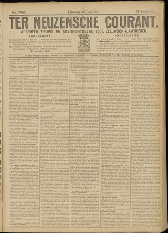 Ter Neuzensche Courant. Algemeen Nieuws- en Advertentieblad voor Zeeuwsch-Vlaanderen / Neuzensche Courant ... (idem) / (Algemeen) nieuws en advertentieblad voor Zeeuwsch-Vlaanderen 1914-07-28
