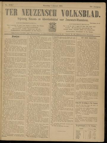 Ter Neuzensch Volksblad. Vrijzinnig nieuws- en advertentieblad voor Zeeuwsch- Vlaanderen / Zeeuwsch Nieuwsblad. Nieuws- en advertentieblad voor Zeeland 1917