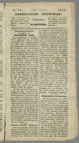 Zierikzeesche Nieuwsbode 1844-09-25