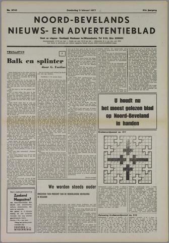 Noord-Bevelands Nieuws- en advertentieblad 1977-02-03
