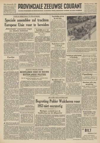 Provinciale Zeeuwse Courant 1952-09-16