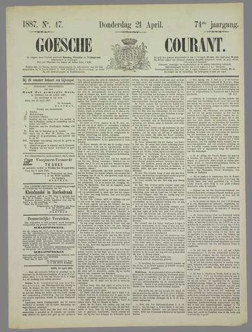 Goessche Courant 1887-04-21