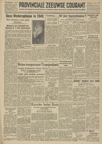 Provinciale Zeeuwse Courant 1949-01-10