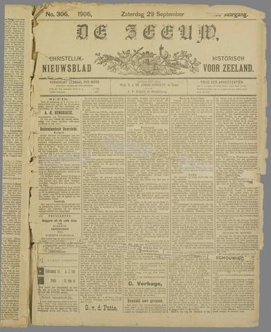De Zeeuw. Christelijk-historisch nieuwsblad voor Zeeland 1906-09-29