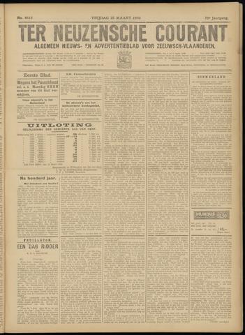 Ter Neuzensche Courant. Algemeen Nieuws- en Advertentieblad voor Zeeuwsch-Vlaanderen / Neuzensche Courant ... (idem) / (Algemeen) nieuws en advertentieblad voor Zeeuwsch-Vlaanderen 1932-03-25