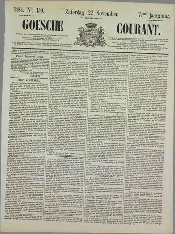 Goessche Courant 1884-11-22