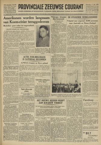 Provinciale Zeeuwse Courant 1950-07-17