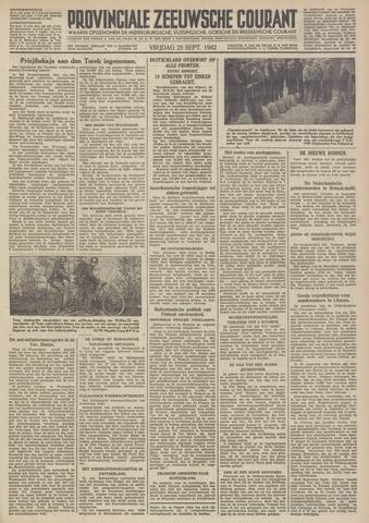Provinciale Zeeuwse Courant 1942-09-25