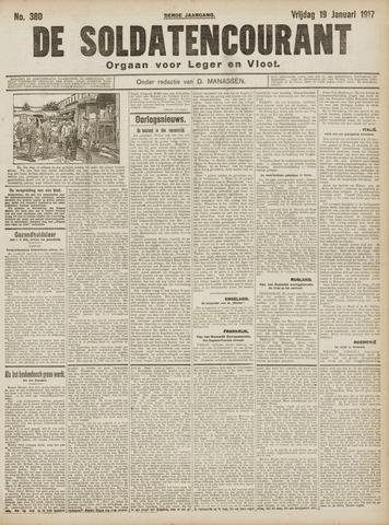 De Soldatencourant. Orgaan voor Leger en Vloot 1917-01-19