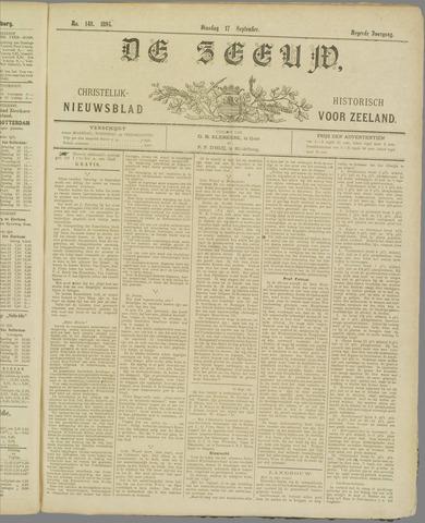 De Zeeuw. Christelijk-historisch nieuwsblad voor Zeeland 1895-09-17