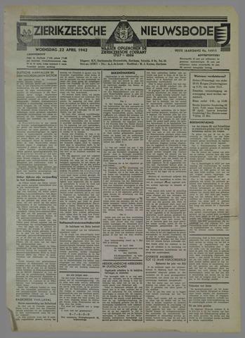 Zierikzeesche Nieuwsbode 1942-04-22