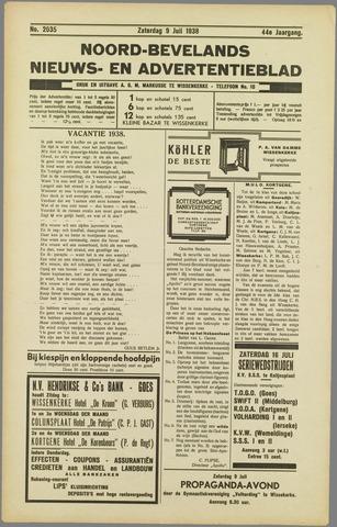 Noord-Bevelands Nieuws- en advertentieblad 1938-07-09