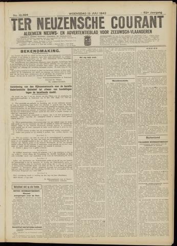Ter Neuzensche Courant. Algemeen Nieuws- en Advertentieblad voor Zeeuwsch-Vlaanderen / Neuzensche Courant ... (idem) / (Algemeen) nieuws en advertentieblad voor Zeeuwsch-Vlaanderen 1942-07-15
