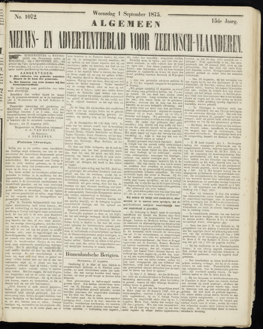 Ter Neuzensche Courant. Algemeen Nieuws- en Advertentieblad voor Zeeuwsch-Vlaanderen / Neuzensche Courant ... (idem) / (Algemeen) nieuws en advertentieblad voor Zeeuwsch-Vlaanderen 1875-09-01