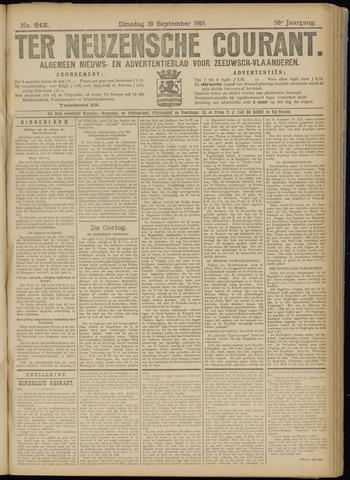 Ter Neuzensche Courant. Algemeen Nieuws- en Advertentieblad voor Zeeuwsch-Vlaanderen / Neuzensche Courant ... (idem) / (Algemeen) nieuws en advertentieblad voor Zeeuwsch-Vlaanderen 1916-09-19