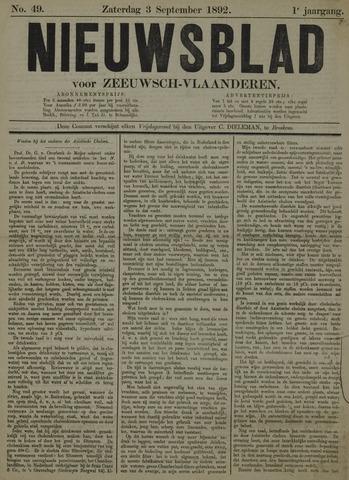 Nieuwsblad voor Zeeuwsch-Vlaanderen 1892-09-03