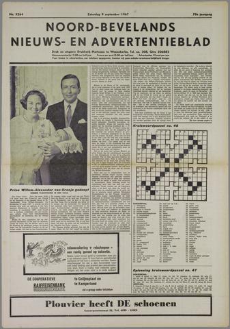 Noord-Bevelands Nieuws- en advertentieblad 1967-09-09