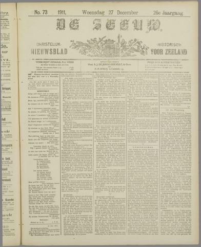 De Zeeuw. Christelijk-historisch nieuwsblad voor Zeeland 1911-12-27