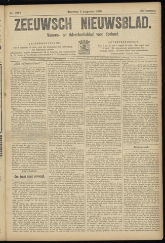 Ter Neuzensch Volksblad. Vrijzinnig nieuws- en advertentieblad voor Zeeuwsch- Vlaanderen / Zeeuwsch Nieuwsblad. Nieuws- en advertentieblad voor Zeeland 1919-08-02