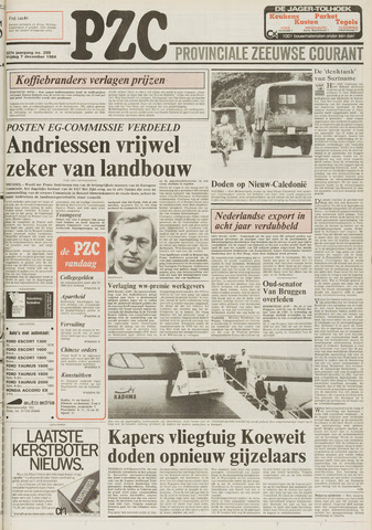 Provinciale Zeeuwse Courant 1984-12-07