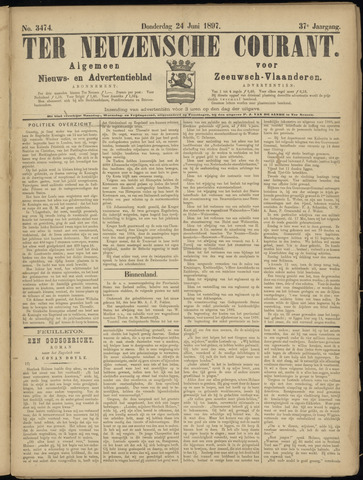 Ter Neuzensche Courant. Algemeen Nieuws- en Advertentieblad voor Zeeuwsch-Vlaanderen / Neuzensche Courant ... (idem) / (Algemeen) nieuws en advertentieblad voor Zeeuwsch-Vlaanderen 1897-06-24