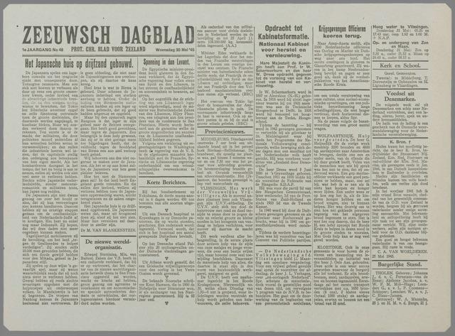 Zeeuwsch Dagblad 1945-05-30