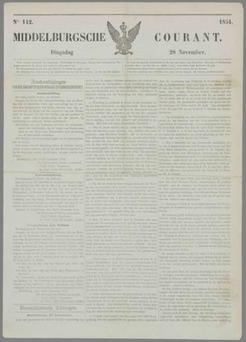 Middelburgsche Courant 1854-11-28