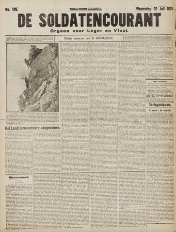 De Soldatencourant. Orgaan voor Leger en Vloot 1915-07-28