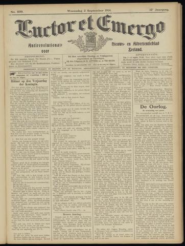 Luctor et Emergo. Antirevolutionair nieuws- en advertentieblad voor Zeeland / Zeeuwsch-Vlaanderen. Orgaan ter verspreiding van de christelijke beginselen in Zeeuwsch-Vlaanderen 1914-09-02