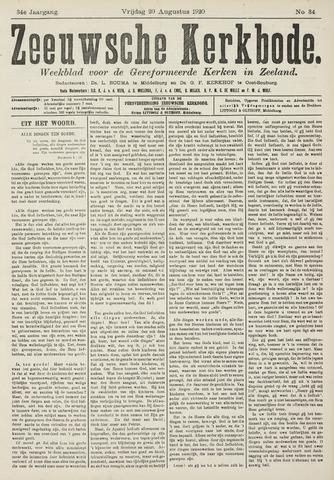 Zeeuwsche kerkbode, weekblad gewijd aan de belangen der gereformeerde kerken/ Zeeuwsch kerkblad 1920-08-20