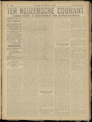 Ter Neuzensche Courant. Algemeen Nieuws- en Advertentieblad voor Zeeuwsch-Vlaanderen / Neuzensche Courant ... (idem) / (Algemeen) nieuws en advertentieblad voor Zeeuwsch-Vlaanderen 1923-02-23