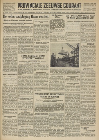 Provinciale Zeeuwse Courant 1950-02-09